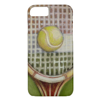 Tennis Racket with Ball Laying on Court iPhone 8/7 Case