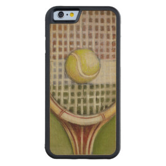 Tennis Racket with Ball Laying on Court Maple iPhone 6 Bumper Case