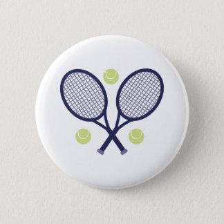 Tennis Rackets 6 Cm Round Badge
