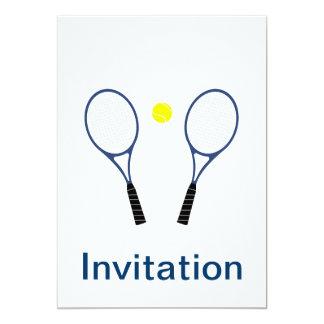Tennis Rackets and Ball Invitation