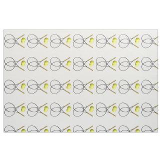 Tennis Rackets and Balls Fabric