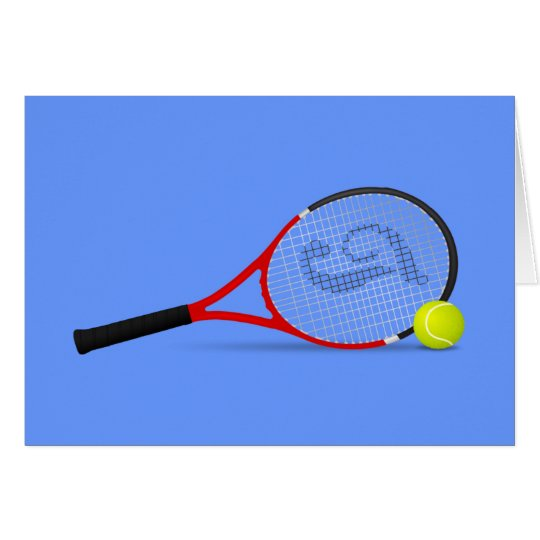 Tennis Racquet and Ball Card