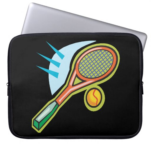 Tennis Racquet Laptop Computer Sleeve