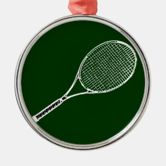 tennis racquet Silver-Colored round decoration