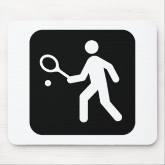 Tennis Racquetball Pictogram Mouse Mat