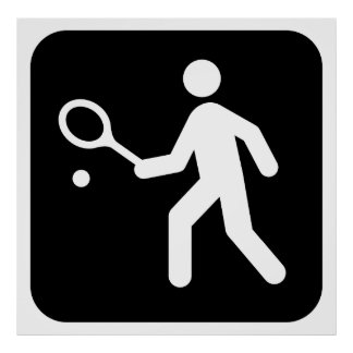 Tennis Racquetball Pictogram Poster