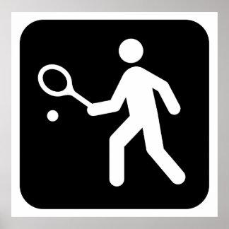Tennis Racquetball Pictogram Poster