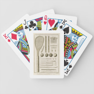 Tennis Racquets and Billiard Cues, from the 'Encyc Bicycle Playing Cards