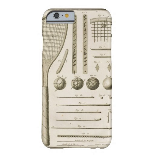 Tennis Racquets and Billiard Cues, from the 'Encyc iPhone 6 Case