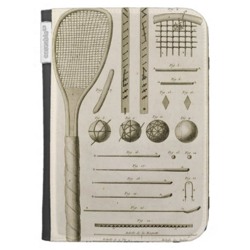 Tennis Racquets and Billiard Cues, from the 'Encyc Kindle Keyboard Case