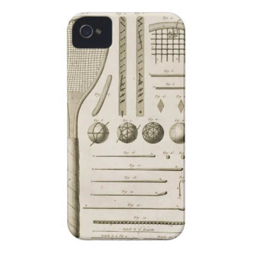Tennis Racquets and Billiard Cues, from the 'Encyc iPhone 4 Case