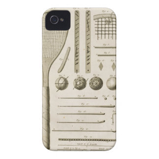 Tennis Racquets and Billiard Cues, from the 'Encyc Case-Mate iPhone 4 Cases