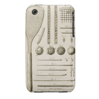 Tennis Racquets and Billiard Cues, from the 'Encyc iPhone 3 Case-Mate Cases