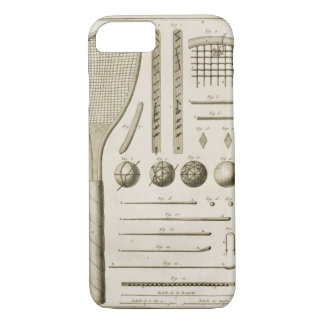 Tennis Racquets and Billiard Cues, from the 'Encyc iPhone 7 Case