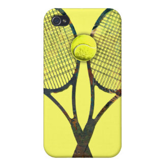 TENNIS RACQUETS & BALL 4  COVER FOR iPhone 4