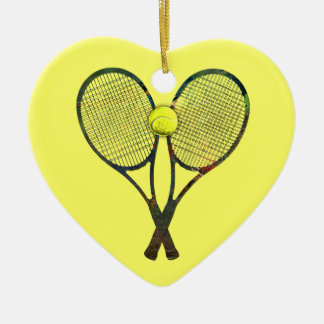 TENNIS RACQUETS & BALL Ornament