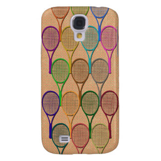 TENNIS RACQUETS IN COLOR 3  SAMSUNG GALAXY S4 CASES