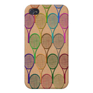 TENNIS RACQUETS IN COLOR 4  COVERS FOR iPhone 4