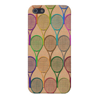 TENNIS RACQUETS IN COLOR 4  iPhone 5/5S CASES