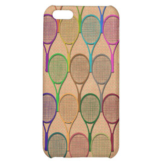 TENNIS RACQUETS IN COLOR 4  iPhone 5C CASES