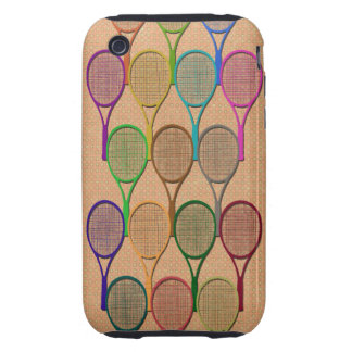 TENNIS RACQUETS IN COLOR iPhone 3 Case-Mate Case