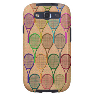 TENNIS RACQUETS IN COLOR Samsung Galaxy S 3 Case Samsung Galaxy S3 Covers