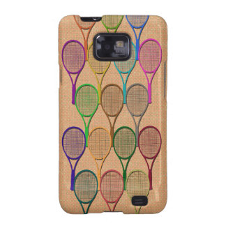 TENNIS RACQUETS IN COLOR Samsung Galaxy S II Case Samsung Galaxy SII Cover