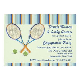 Tennis Racquets Invitation
