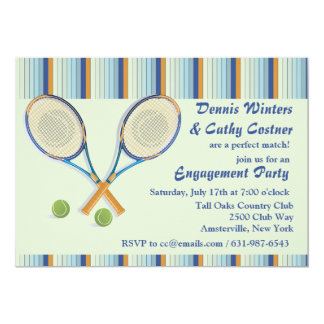 Tennis Racquets Invitation