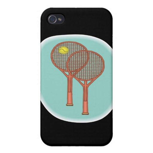 Tennis Racquets iPhone 4 Cases
