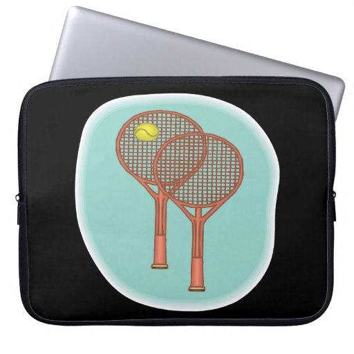 Tennis Racquets Laptop Computer Sleeves