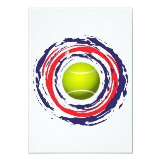 Tennis Red Blue And White 13 Cm X 18 Cm Invitation Card