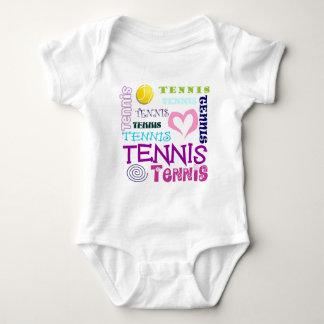 Tennis Repeating Baby Bodysuit