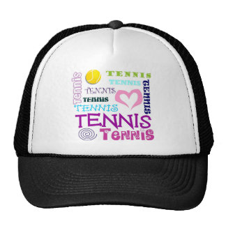 Tennis Repeating Mesh Hats
