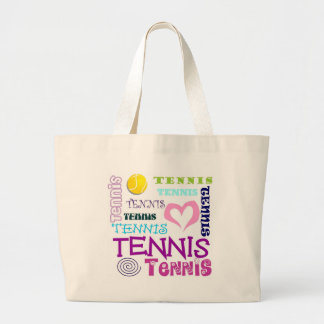 Tennis Repeating Large Tote Bag