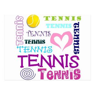 Tennis Repeating Postcard