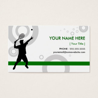 tennis rings business card