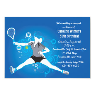 "Tennis Rocks Invitation 5"" X 7"" Invitation Card"