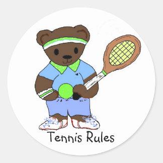 Tennis Rules Round Sticker