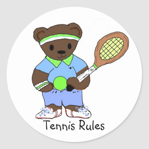Tennis Rules Round Stickers