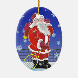 Tennis Santa, Christmas tree, Christmas Ornament