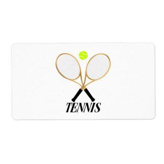 Tennis Shipping Label