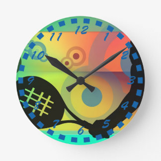 Tennis Silhouette artwork design Clocks