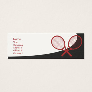 Tennis - Skinny Mini Business Card