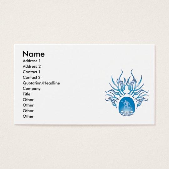 Tennis Skull Business Card