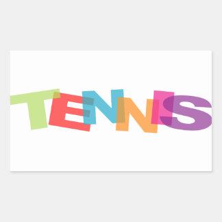 Tennis slogan rectangular sticker