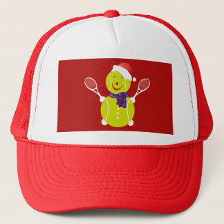 Tennis snowman trucker hat