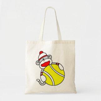 Tennis Sock Monkey Budget Tote Bag