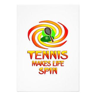 Tennis Spins Custom Invites