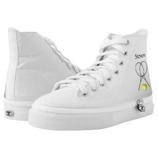 Tennis Sport Theme Personalized High Tops